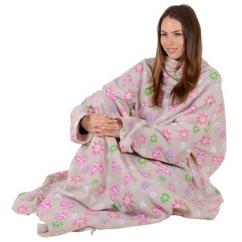 bettdecke kuscheln oversized snuggle blanket with sleeves one size