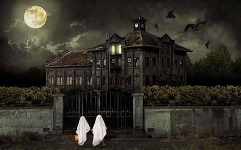 halloween house halloween scary house wallpapers hd wallpapers id 10411
