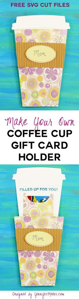 Coffee Cup Gift Card Holder Template by Take Out Coffee Cup Gift Card Holder Maker