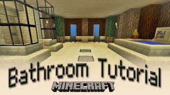 minecraft bathroom ideas minecraft how to make a bathroom tutorial