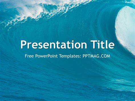 powerpoint themes ocean free ocean waves powerpoint template pptmag