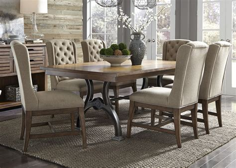 trestle and chairs liberty furniture arlington 7 piece trestle and