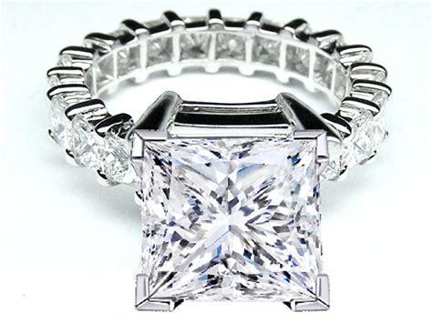 engagement ring princess eternity engagement ring