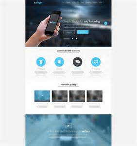 Landing Page Template by Landing Page Template 90 Free Psd Format