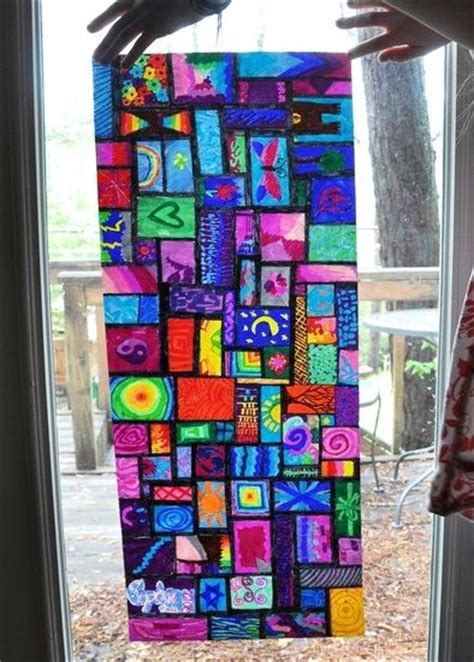 How To Make Stained Glass With Wax Paper - 17 best images about church school projects lessons on