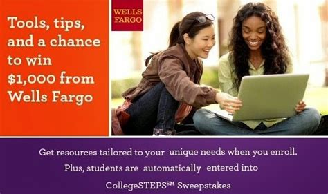 Wells Fargo Collegesteps Sweepstakes - wells fargo collegesteps sweepstakes sweepstakesbible