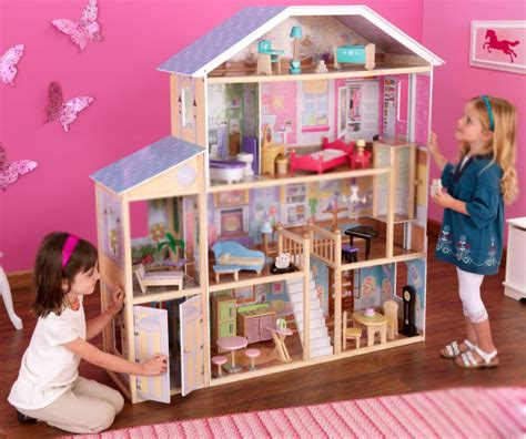 doll house play summary kidkraft majestic mansion deluxe pretend play dollhouse ebay