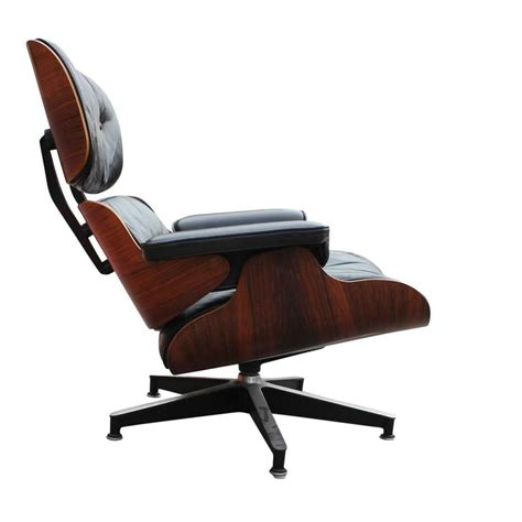 eames lounge chair rosewood rosewood eames modern lounge chair black leather at 1stdibs