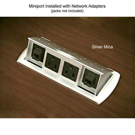 miniport power and data center for desks and conference
