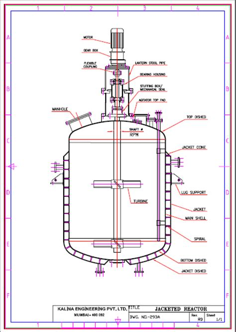jacket design for reactor jacketed vessel jacketed reactor chemical reactor
