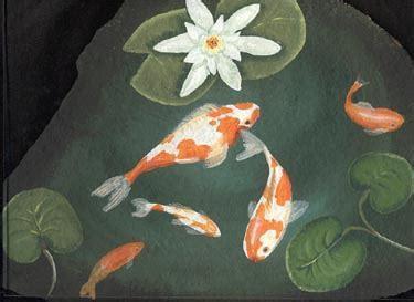 Rock Paintings,slates,painted rocks,Lee Wismer,fish pond