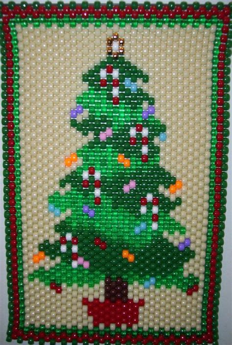 patterns christmas banners christmas tree made by kareyakcreations com beaded