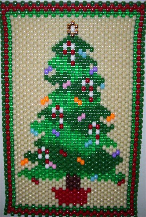 christmas tree pony bead pattern christmas tree made by kareyakcreations com beaded