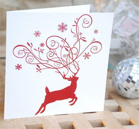 pack   reindeer christmas cards  mooks design notonthehighstreetcom