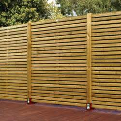 Timber Fence Panels Green Woodbury Timber Fence Panel W 1 8m H 1 8m Pack Of