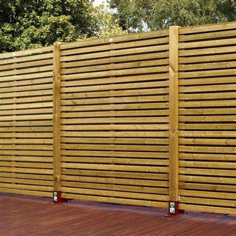 Garden Trellis Bq Contemporary Slatted Fence Panel W 1 79m H 1 793m Pack