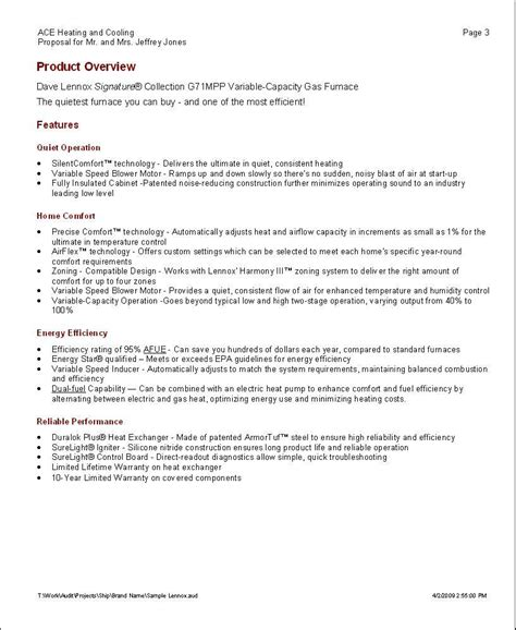 professional bid template doc 585680 sle professional template 6