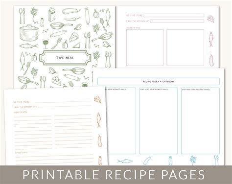 diy recipe book template images template design ideas
