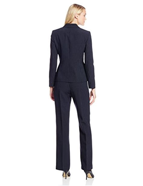 le suit s pinstripe jacket and pant set navy
