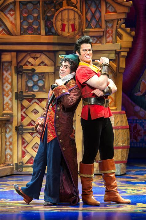 from and beast gaston and lefou and the beast musical broadway