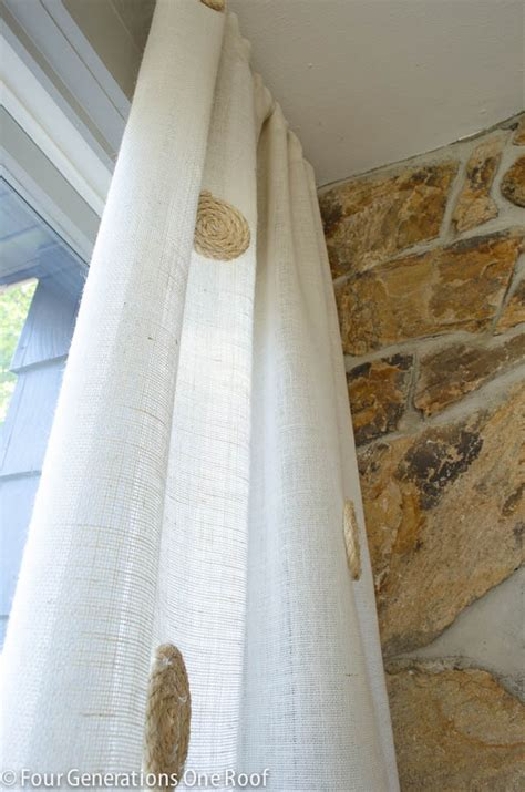 Burlap Curtains Diy No Sew Diy White Burlap Curtains Four Generations One Roof