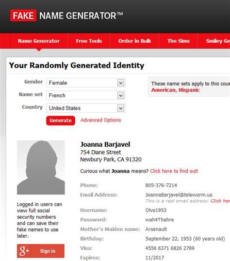generate a random name fake name generator ik ben een autoliefhebber fake name generator