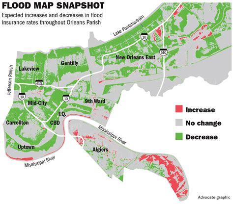 fema flood insurance rate map new orleans revised flood maps set to slash insurance
