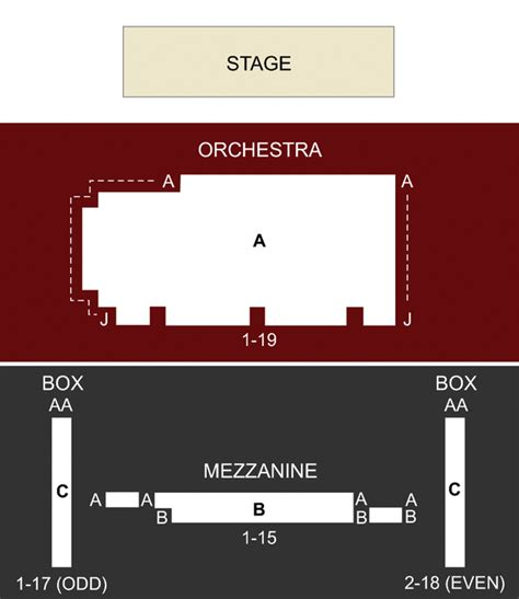 new world stages seating chart stage 5 new world stages new york ny seating chart and