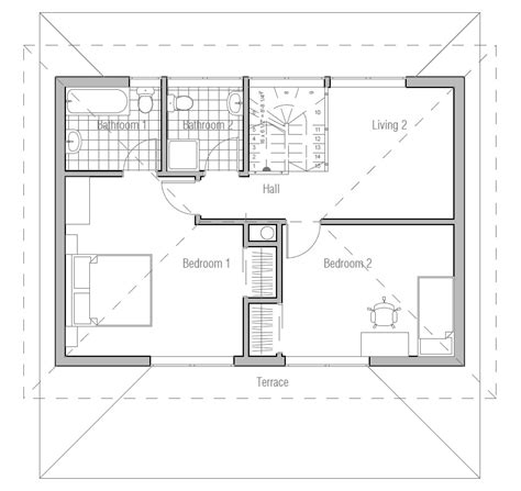 small efficient house plans small house plan ch187 images floor plans small home