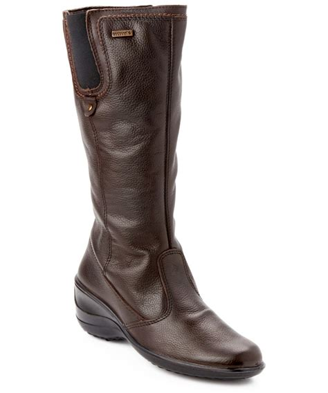santana canada boots santana canada quot quot eartha quot quot leather wedge boot in brown