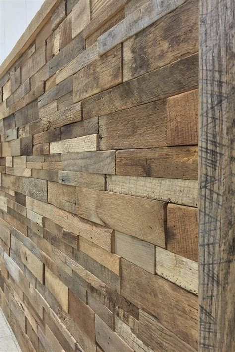 reclaimed wood vs new wood reclaimed barn wood stacked wall panels