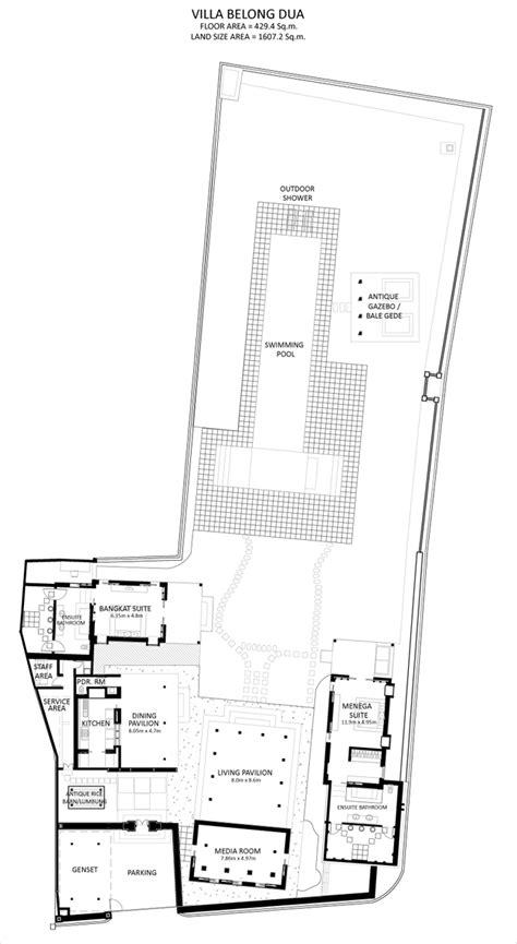 dua residency floor plan villa belong dua seseh tanah lot bali villa