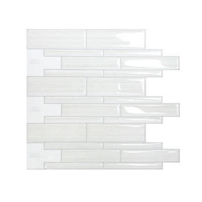 adhesive decorative wall tile smart tiles infinity blanco 10 51 in x 9 71 in mosaic
