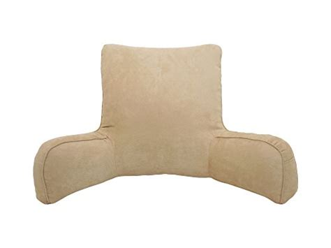 extra large bed rest pillow arlee suede oversized bedrest lounger brush home garden