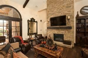Beautiful spanish style home mediterranean living room