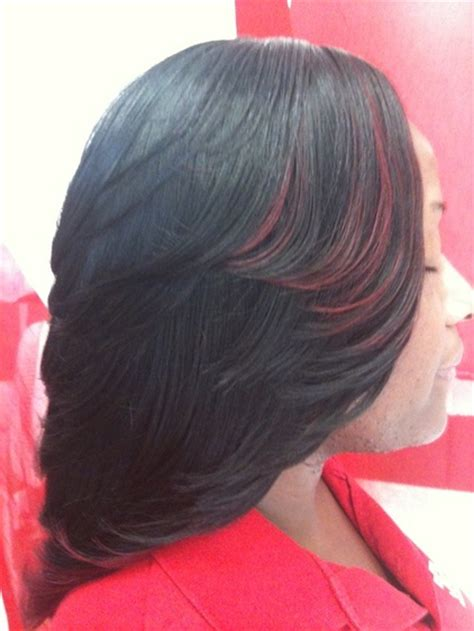 Zaskia Black Limited search results for layerd bob sew ins black hairstyle and haircuts