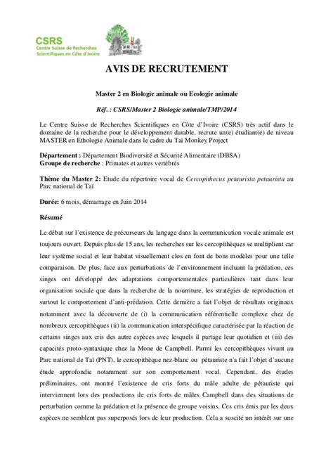 Lettre De Motivation De Master 2 Modele Lettre De Motivation Master 2 Chimie Document