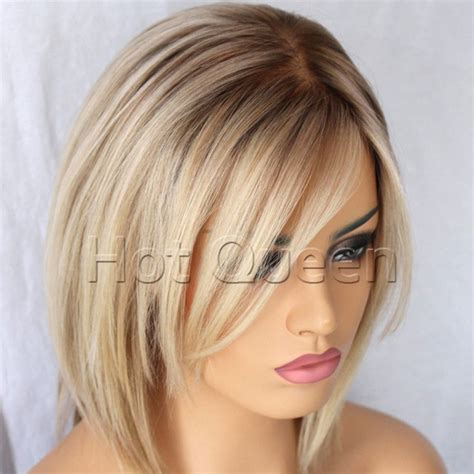 light silky keri hilson straight blonde medium length remy human aliexpress com buy cheap short brazilian bob style