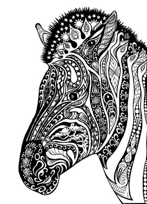 zebra pattern coloring page adult coloring pages zebra colorear pinterest adult