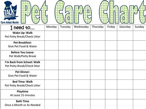 printable puppy house training schedule pet care chart clubs 4h pinterest pets charts and