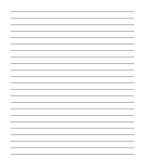lined notebook paper template word sle college ruled paper template 9 free documents in