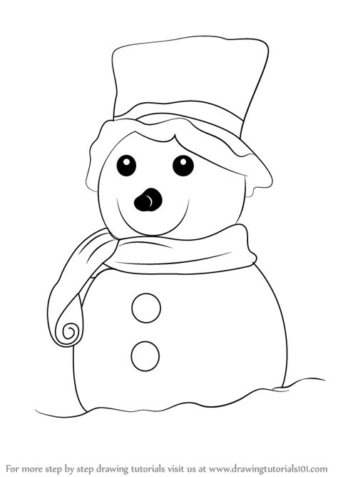 Bolpoin Drawing Snowman 0 1 learn how to draw a decorated snowman step by