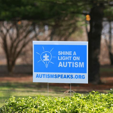 cing in the backyard shine a light on autism yard sign shop autismspeaks org