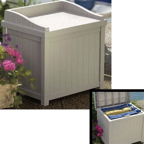 outside storage bench sams club 126 best images about deck storage boxes on