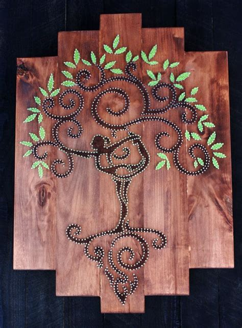 String Arts And Crafts - best 20 tree of ideas on