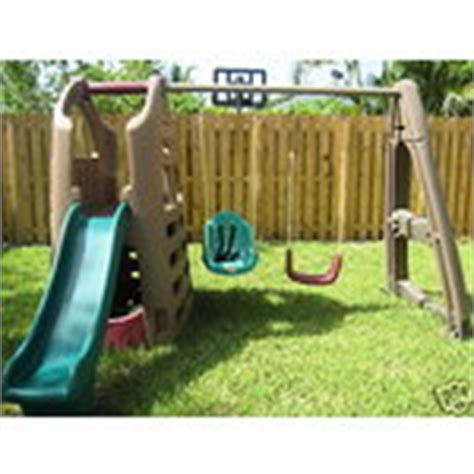 step two swing set step 2 naturally playful playhouse swing set 07 20 2009