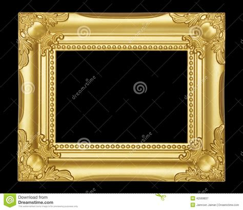 gold frame isolated on black background stock photo image 42569837