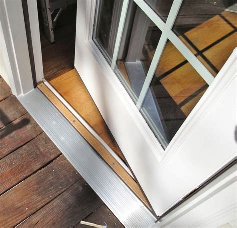 replacing exterior door threshold how to replace exterior door threshold replace exterior