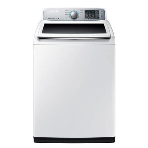 Samsung Washer Samsung 5 0 Cu Ft High Efficiency Top Load Washer In White Energy Wa50m7450aw The Home