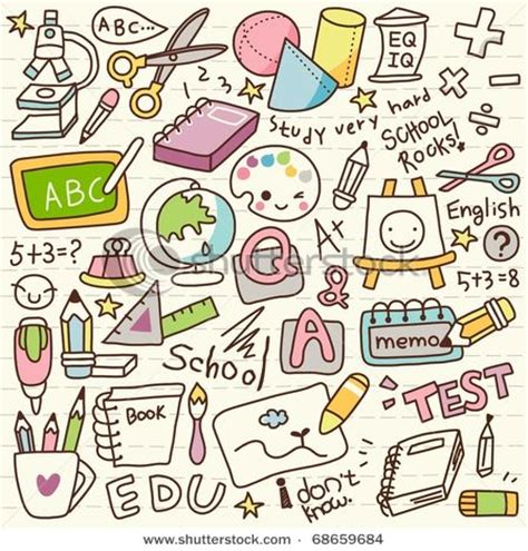 doodle story wall mural doodle back to school student